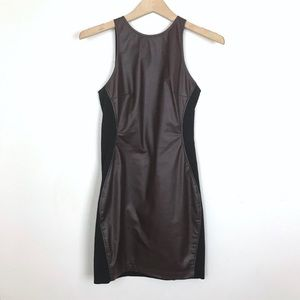 Dolce Vita Sleeveless Two Tone Faux Leather Dress
